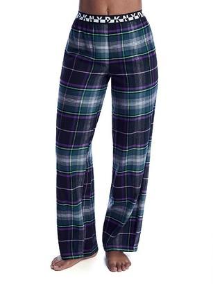 DKNY Black Plaid Knit Pajama Pants