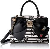 Betsey Johnson Glam Garden Bow Satchel