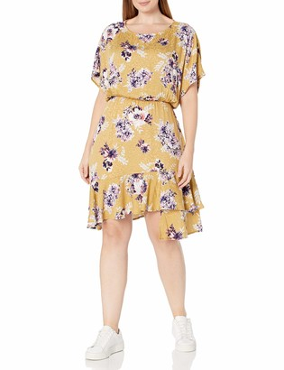 Forever 21 Women's Plus Size Floral High-Low Dress