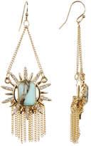 Jessica Simpson Trapeze Fringe Stone Drop Earrings