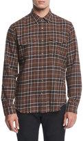 Vince Plaid Flannel Western Shirt