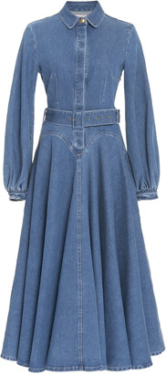 Emilia Wickstead Jewel Puffed Sleeve Denim Dress
