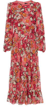 Saloni Isabel D Printed Silk-Georgette Midi Dress