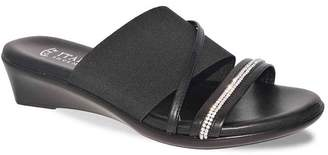 Italian Shoemakers Sassy Embellished Strap Wedge Sandal