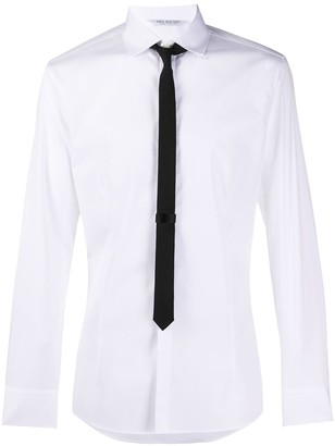Neil Barrett Built-In Tie Shirt