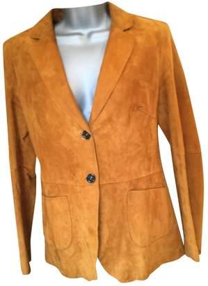 Fratelli Rossetti \N Orange Suede Jacket for Women