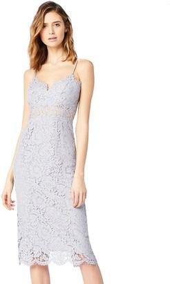 Amazon Brand - TRUTH & FABLE Women's Midi Lace Dress