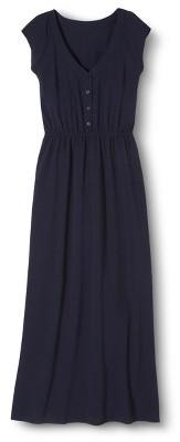 Merona Petites Sleeveless V-Neck Maxi Dress - Navy