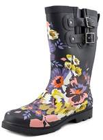 Chooka Floral Boom Mid Round Toe Synthetic Rain Boot.