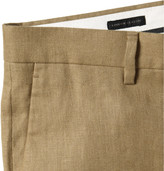 J.Crew Tan Ludlow Linen Suit Trousers