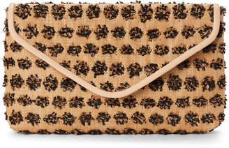 La Regale Floral Straw Convertible Clutch