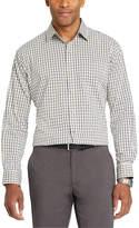 Van Heusen Long Sleeve Checked Button-Front Shirt