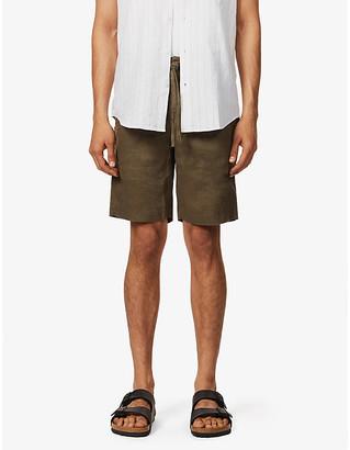 Frescobol Carioca Drawstring linen shorts