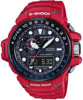 G-Shock Men's Analog-Digital Gulfmaster Red Resin Strap Watch 45x56mm GWN1000RD-4A