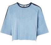 **Revert Contrast Denim T-Shirt by The Ragged Priest