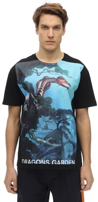 Valentino Dragon Garden Printed Cotton T-Shirt