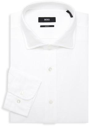 HUGO BOSS Textured Slim-Fit Dress Shirt