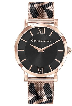 Christian Lacroix Womens Analogue Quartz Watch with Stainless Steel Strap CLWE49