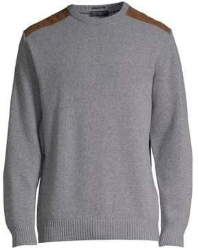 Paul & Shark Suede Shoulder Patch Sweater