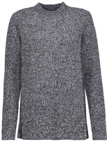 Carven Split-Side Marled Ribbed Wool Sweater