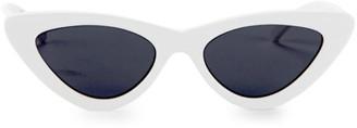 Cat Eye Adam Selman x Le Spec Luxe The Last Lolita White Sunglasses