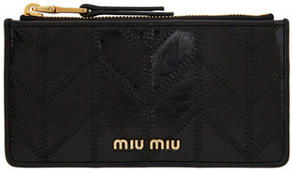 Miu Miu Black Quilted Card Holder