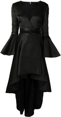 Saiid Kobeisy Ruffle High-Low Hem Dress