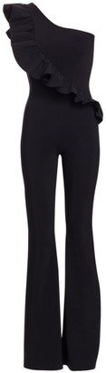 Chiara Boni One-Shoulder Solid Jumpsuit