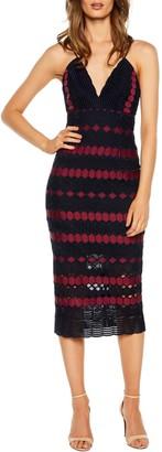 Bardot Diamond Lace Sheath Dress