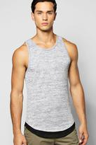 Boohoo Longline Knitted Vest With Mock Hem