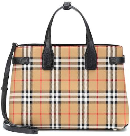 Burberry The Medium Banner check tote