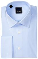 David Donahue Long Sleeve Regular Fit Mini Houndstooth Dress Shirt