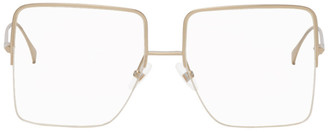 Fendi Gold Large Square Glasses