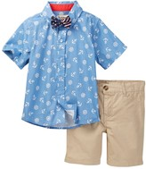 Beetle & Thread Anchor Shirt, Bow Tie, & Short Set (Toddler & Little Boys)