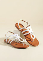 ModCloth Uniquely Yours Sandal in Blanc in 8