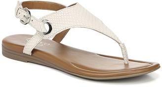 Franco Sarto Goldy Snake Embossed Leather Sandal