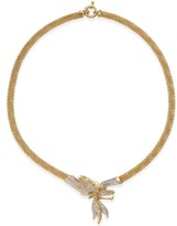 """Macy's Diamond Dragon 18"""" Statement Necklace (1-3/4 ct. t.w.) in 14k Gold-Plated Sterling Silver"""