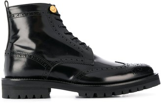 Versace lace-up brogue boots