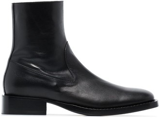 Ann Demeulemeester Ankle Zip Boots