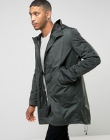 Asos Parka Jacket With 2 in 1 Inner Bomber In Khaki