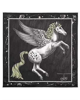 Aspinal of London Feather Pegasus Scarf (90 x 90)
