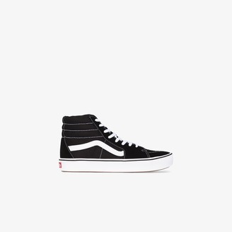 Vans black SK8-Hi suede panel sneakers