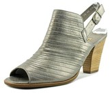 Paul Green Waverly Women Open-toe Leather Silver Slingback Heel.