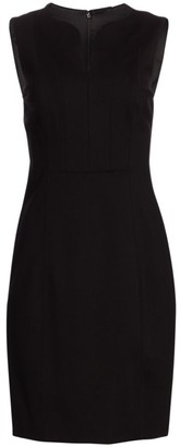 Elie Tahari Natanya Double Knit Sheath Dress