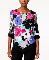 Alfred Dunner Closet Case Asymmetrical Necklace Top