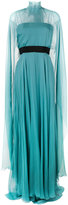 Alberta Ferretti sheer caped evening gown - women - Silk/Acetate/other fibers - 40