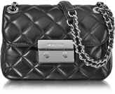 Michael Kors Sloan Small Quilted-Leather w/Rhodium Finish Chain Shoulder Bag