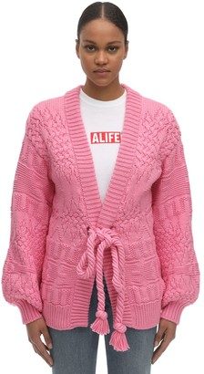 Alanui Cotton Blend Knit Cardigan