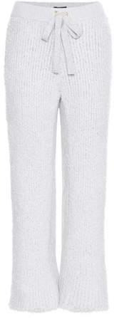 Undercover Knitted cashmere-blend trousers