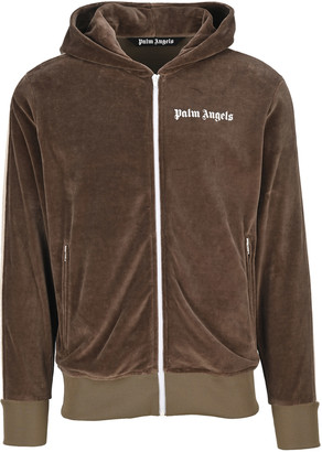 Palm Angels Chenille Hooded Track Jacket